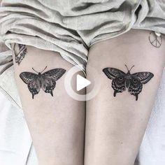 Are you in the market for some badass thigh tattoo ideas for women? You might want to sit down - we've found 65 of them that will blow your socks off! #thightattoos Flower Leg Tattoos, Side Thigh Tattoos, Leg Tattoos Women, Small Tattoos, Tattoos For Guys, Butterfly Tattoos For Women, Butterfly Tattoo Designs, Thigh Tattoo Designs, Tattoo Designs For Women