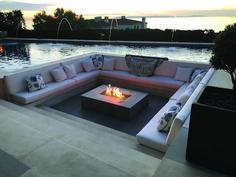 In a fire pit and a seating area with a pool - # a # a # fire pit . - In a fire pit and a seating area with a pool – - Fire Pit Seating, Fire Pit Area, Backyard Seating, Backyard Patio Designs, Fire Pit Backyard, Outdoor Seating, Backyard Ideas, Seating Areas, Backyard Landscaping
