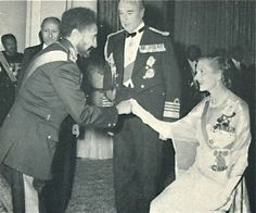 The Emperor Haile Selassie receives my grandmother.