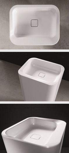 KALDEWEI washbasin // The MEISTERSTÜCK EMERSO washbasin is the counterpart to the bathtub of the same name. Although built inversely, its design is equally subtle and harmonious. (by Arik Levy) #Kaldewei #Washbasin #Waschtisch #Bath #Design #Arik #Levy