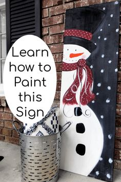 DIY Wood Signs - How to Make a Snowman Painting on Wood . DIY Wood Signs are one of my favorite ways to decorate and Snowman Painting on wood is a fav! Christmas Wood Crafts, Noel Christmas, Christmas Decorations To Make, Christmas Projects, Holiday Crafts, Christmas Ornaments, Christmas Canvas, Christmas 2019, Christmas Quotes
