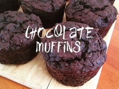 Healthy chocolate muffins using grated pumpkin!!  No sugar!