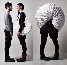 There's this purse that converts into a not-so-private privacy area. | The 32 Most Absurd Pieces Of Clothing For Two