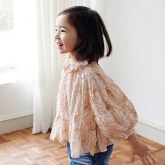 Bien a Bien Flaminin blouse [orange print]  www.mintandpersimmon.com