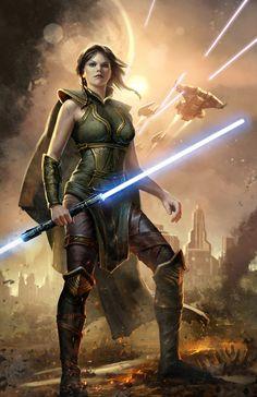 SWTOR - Concept art for marketing. Star Wars Rpg, Star Wars Fan Art, Star Wars Ships, Star Wars Jedi, Star Wars Characters Pictures, Star Wars Pictures, Star Wars Images, Meninas Star Wars, Satele Shan