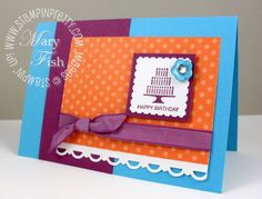 Stampin' up! postage stamp punch pretty birthday card