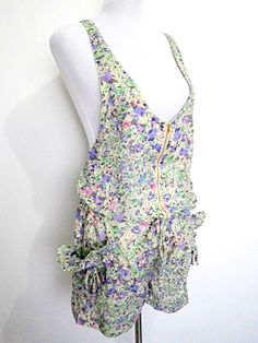 sage green & purple floral ditsy romper or jumper USD49 FREE SHIPPING