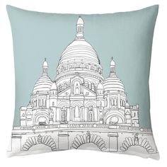 Love this new 'Sacre-Coeur Doodle' cushion by Artbyflynn. New to Art Rookie! Shop artrookie.co.uk/Artbyflynn  #sacrecouer #france #french #doodle #drawing #decor #cushion #design #art #artist #pillow #homedecor #interiordesign #interiordecor #illustration #blue #sky #architecture #travel #artforsale #artrookie #instaart #instagood #style #stylist #picoftheday #paris