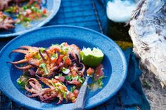 Chargrilled baby octopus with pico de gallo