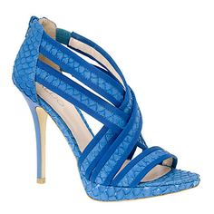 Blue strappy stilettos from Aldo