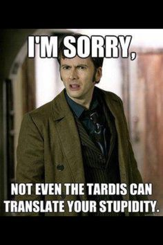 Doctor Who David Tennant Funny. Lol