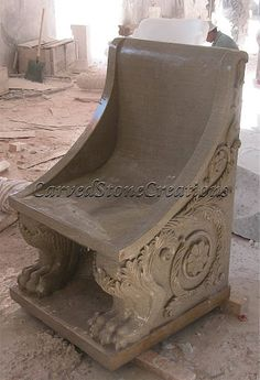 Don't you want to soak in the beauty of your garden? What better way to do that than on a handcarved stone bench! Click on the picture to learn more. #Stone #Bench #Garden #Landscaping #Ideas