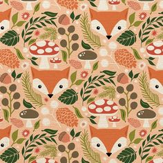 Testing the waters of pattern design.but now I have no idea what to do with Fox Pattern, Pattern Illustration, Baby Illustration, Fox Art, Kids Prints, Surface Pattern Design, Illustrations, Beautiful Patterns, Pattern Wallpaper