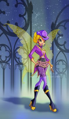 Winx Club Season 6 Episode 12 Shimmer In The Shadows : Stella's Goth Outfit