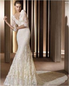 vestido de noiva sereia com manga - Pesquisa Google