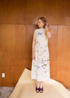 Penny Sage — Double Fantasy dress (spring meadow)
