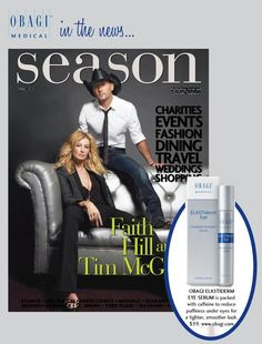 Seasons Magazine loves Obagi ELASTIderm Eye Serum for its caffeine-packed formula designed to reduce puffiness under eyes for a tighter, smoother look. http://www.obagi.com/sites/default/files/news/docs/season_march2013_0.pdf