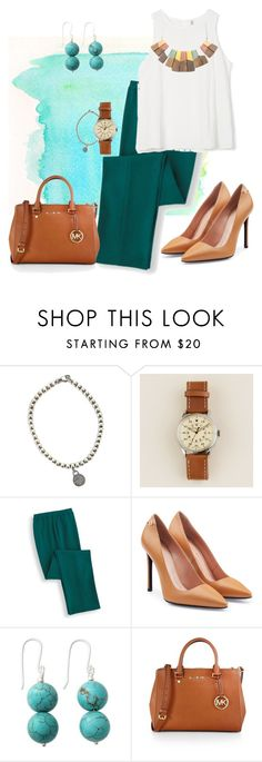"""Agua y arena"" by marijime on Polyvore featuring moda, Tiffany & Co., J.Crew, Roland Mouret, NOVICA, MICHAEL Michael Kors, WorkWear, Spring, outfit y spring2016"