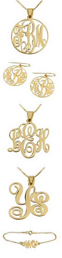 Monogram Jewelry not in gold and not the earrings