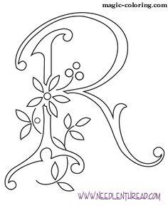 MAGIC-COLORING   Flowered Monograms