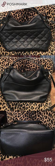 Handbag Soft black leather handbag. Comes with shoulder strap. Excellent condition. Perlina new york Bags Shoulder Bags