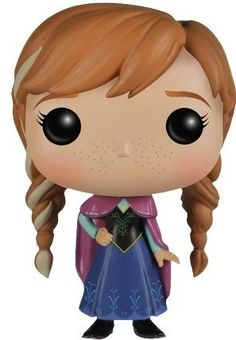 Frozen - Anna is a Vinyl figure designed by Disney and manufactured by Funko in 2014 Disney Pop, Frozen Disney, Anna Frozen, Funko Pop Dolls, Funko Pop Figures, Vinyl Figures, Figurine Pop Disney, Disney Figurines, Pop Goes The Weasel