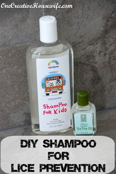DIY Tea Tree Oil Shampoo - Lice Prevention: 1. Using an eye dropper, add 2 drops of tea tree oil per ounce of shampoo.   2. Replace the shampoo bottle lid and shake to mix.   3. Shake shampoo before each use.  4. Use shampoo as you normally would.