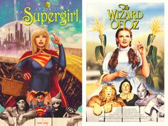 SUPERGIRL #40 inspired by WIZARD OF OZ, with cover art by Marco D'Alphonso. I must have this!