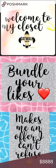 🎉🎉WELCOME TO MY CLOSET 🎉🎉 Welcome to my closet, find stuff that you love ❤️ I offer bundle discount ❤️I mail same day or next ❤️free gift x 25 dl or more ❤️I hear offers  ❤️happy purchase 🤗🤗🤗 happy poshing 🤗🤗🤗🌴🌴🌴🌨🌨🌨🌨 Other