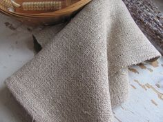 Natural Linen Hand or Spa Towel Handwoven by aclhandweaver on Etsy, $78.00
