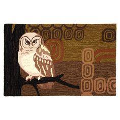 Homefires Retro Owl Rug Pinned by www.myowlbarn.com