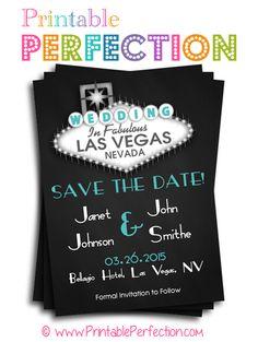 Wedding - Save the Date - Las Vegas - Black