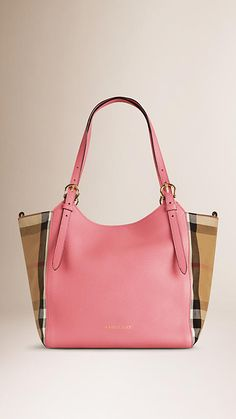 6e7629acde Mauve pink The Small Canter in Leather and House Check Mauve