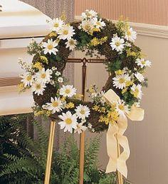 daisy wreath - Google Search