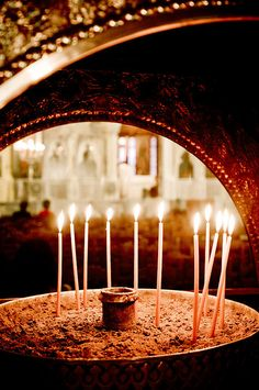 Greece - Eastern Orthodox Church in Athens Macedonia, Albania, Bulgaria, Greek Easter, Candle In The Wind, Athens Greece, Beautiful Places To Visit, Greece Travel, Beautiful Islands