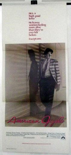 AMERICAN GIGOLO - RICHARD GERE - ORIGINAL AUSTRALIAN DAYBILL MOVIE POSTER