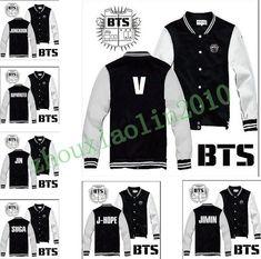Kpop BTS Bangtan Boys Team Fashion Buttons hoodies Warm Fashion sweater Jacket