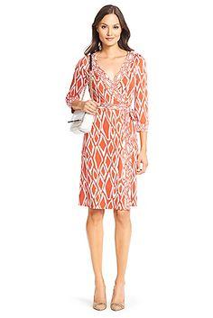 DVF Banded Julian Silk Jersey Wrap Dress
