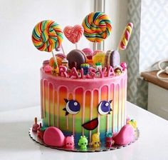 Cutest candy themed cake (cute baking recipes) ♣️Fosterginger.Pinterest.Com♠️ More Pins Like This One At FOSTERGINGER @ PINTEREST No Pin LimitsFollow Me on Instagram @ FOSTERGINGER75 and ART_TEXAS