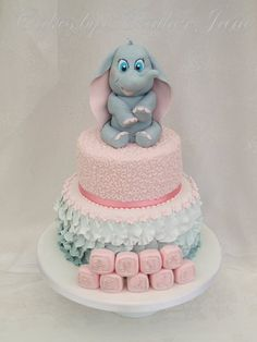 Baby Dumbo Cake for a christening, baptism, or baby shower