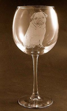 What could be more relaxing than a puggy glass of wine?