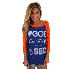 SEC Baseball Tee in Royal Blue | Impressions Online Women's Clothing Boutique
