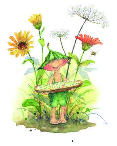 """""""Verzauberung des Gartenalltags und die Beflügelung der kindlichen Phantasie. ...augenzwinkernd-witzig"""" Kobold, Gnomes, Fairies, Roots, Wings, Artists, Summer, Painting, Watercolor Painting"""