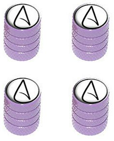 """Amazon.com : (4 Count) Cool and Custom """"Diamond Etching Atheism Symbol Top with Easy Grip Texture"""" Tire Wheel Rim Air Valve Stem Dust Cap Seal Made of Genuine Anodized Aluminum Metal {Purple and White Colors} : Sports & Outdoors"""