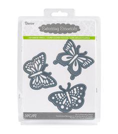 Schmetterlinge 3 Stück Die Cut Prägung Schablone festgelegten Darice