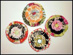 Fabric Flower tutorial (no sew)