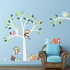 Elegant ElecMotive Entfernbare Wandtattoo Wandaufkleber Wall sticker Aufkleber DIY f r Wohnzimmer Schlafzimmer Kinderzimmer in Geschenkkarton Eulen