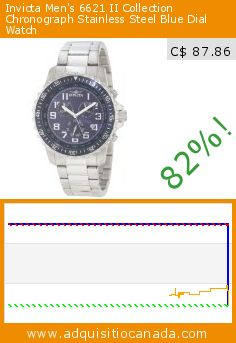 Invicta Men's 6621 II Collection Chronograph Stainless Steel Blue Dial Watch (Watch). Drop 82%! Current price C$ 87.86, the previous price was C$ 495.00. http://www.adquisitiocanada.com/invicta/invicta-mens-6621-ii