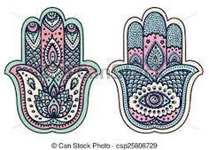 Illustration of Vector Indian hand drawn hamsa with ethnic ornaments vector art, clipart and stock vectors. Hand Of Fatima, Hamsa, Art, Hamsa Tattoo, Free Art Prints, Hamsa Art, How To Draw Hands, Jewish Art, Hamsa Hand Art