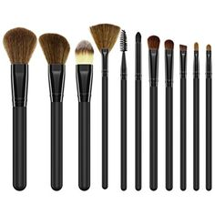 2e0f1f9b4c40b 2018 Hot Makeup Brushes Eyeliner Contour Powder Liquid Cream Face  Foundation Make Up Brush Kit Cosmetic Tool 11 Pcs